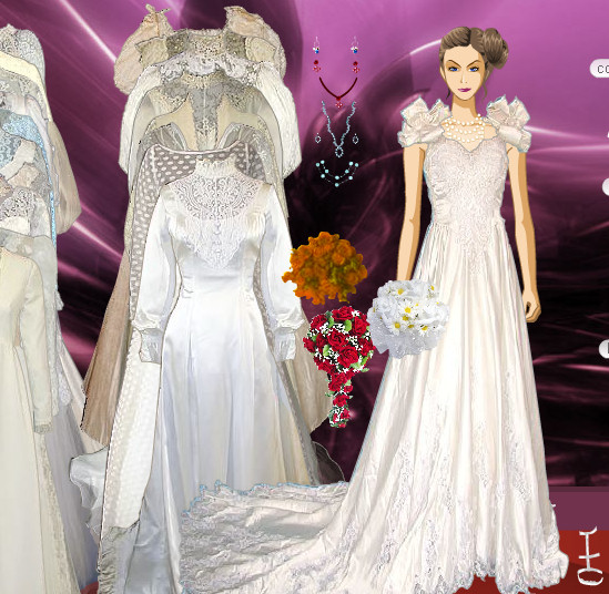 Vestidos, ropa y maquillaje de mujer para una boda