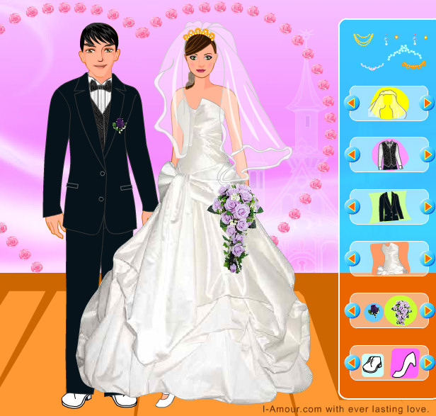 vestidos y trajes para la pareja de novios | juegos