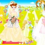 Juego para vestir a la novia muñeca
