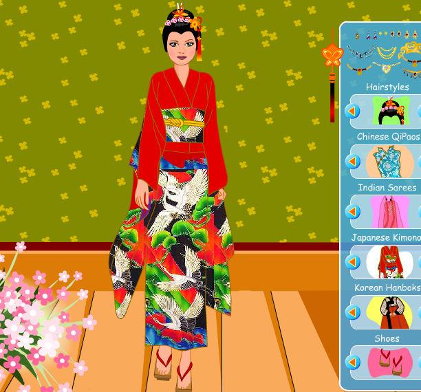 Juego para vestir a la novia con moda oriental