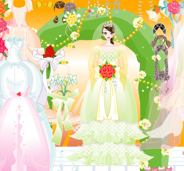 Juego fashion de vestir y peinar novias