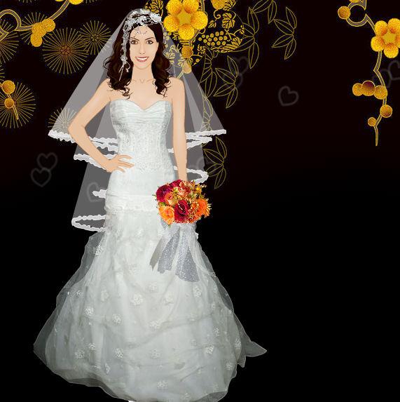 Juego para vestir a la novia de San Valentín
