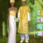 Juego para vestir a los novios africanos