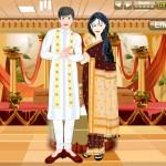 Juego para vestir a los novios de la India