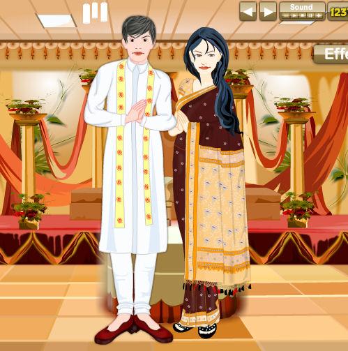 juego vestir novios india