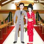 Juego para vestir a los novios japoneses