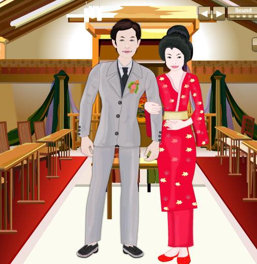 1b90ebe26 Juego para vestir a los novios japoneses