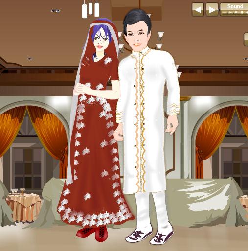 Juego para vestir a los novios musulmanes