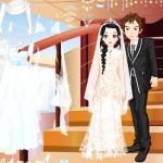 Juego de vestir y peinar a los novios para la boda