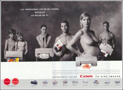 machismo publicidad anuncios impresora canon