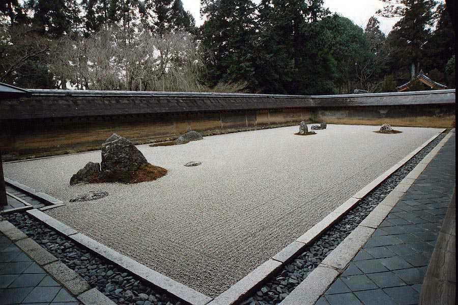 ryoanji jardin Karesansui japones shinto templos