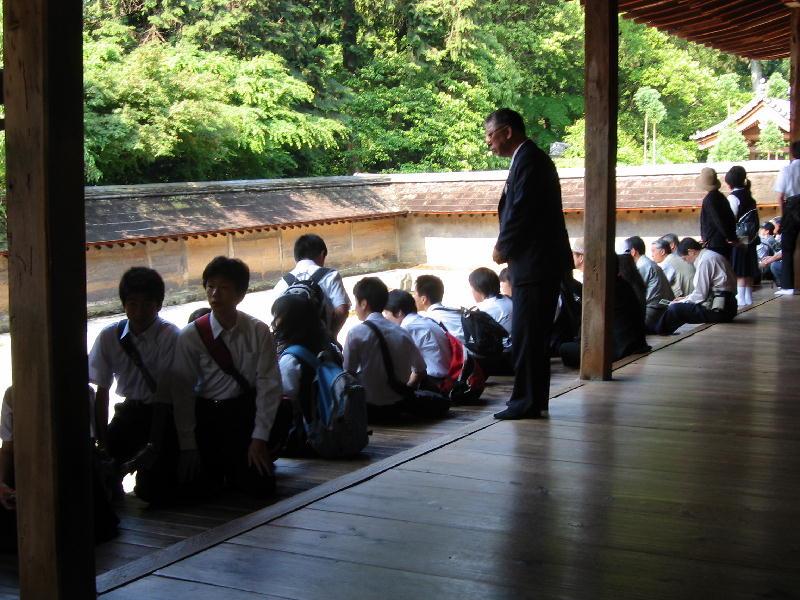 ryoanji jardin galeria visitantes turistas
