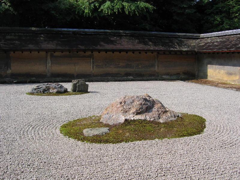 ryoanji jardin zen asia japon japones sin plantas arboles