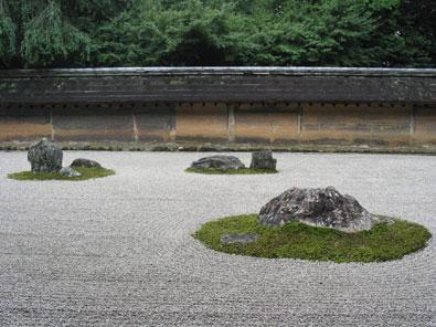 ryoanji seki-tei templo ryoanji vista rocas grava jardin
