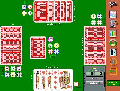 siete y media juegos cartas mantenerse trece