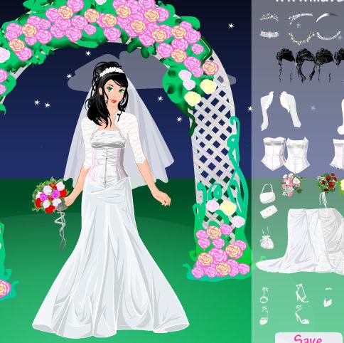 Juego de vestidos de novia para la noche