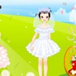 Juego para vestir a la niña novia