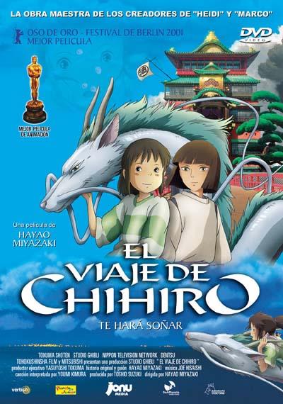 el viaje de chihiro-anime-dvd-portada
