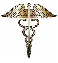 emblema medicina serpientes culebras