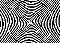 ilusion optica movimiento espirales concentricas
