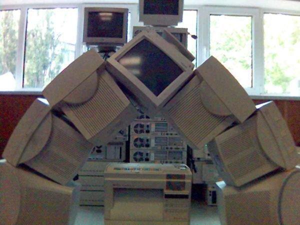 imagenes oficina humor risa arco monitores