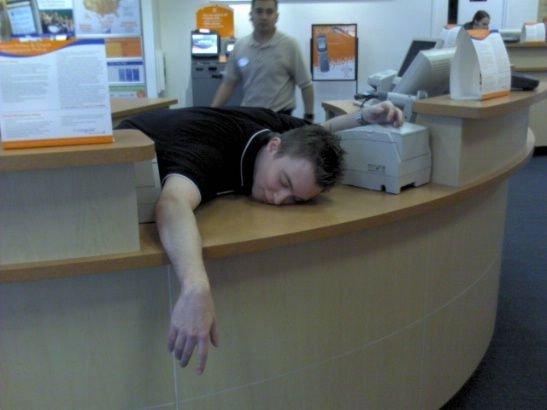 imagenes oficina humor risa durmiendo recepcion