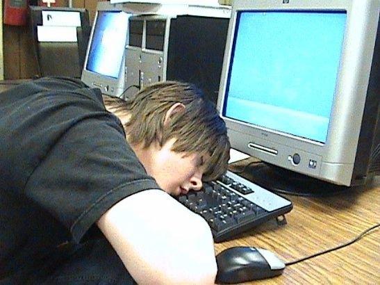 imagenes oficina humor risa durmiendo teclado