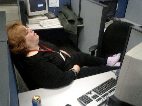 imagenes oficina humor risa durmiendo