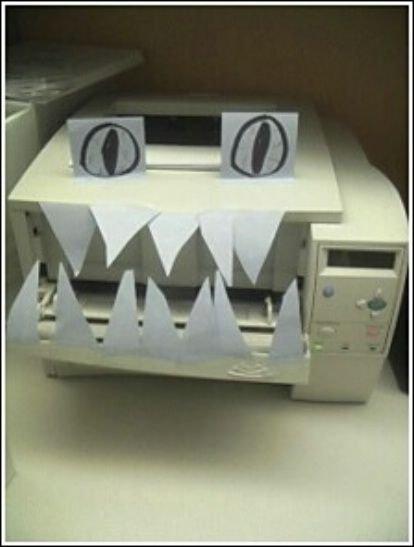 imagenes oficina humor risa impresora terror