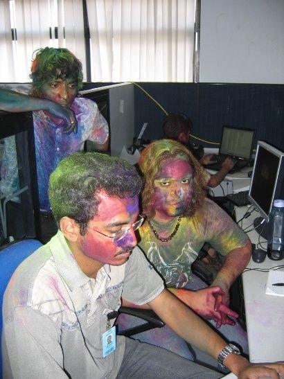 imagenes oficina humor risa pintados payasos