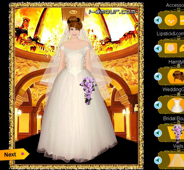 Juego para vestir a las modelos de novias en el desfile de palacio