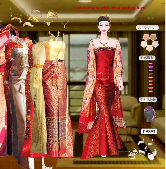 Juego para vestir a la novia de Tailandia