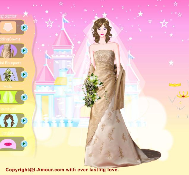 Moda y trajes de novia de fantasía   Juegos