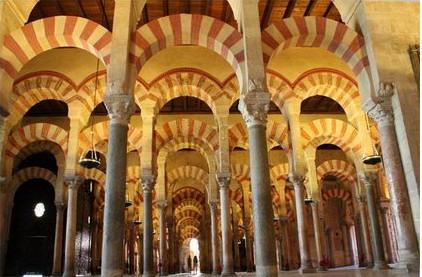 mezquita-cordoba-arcos columnas marmol