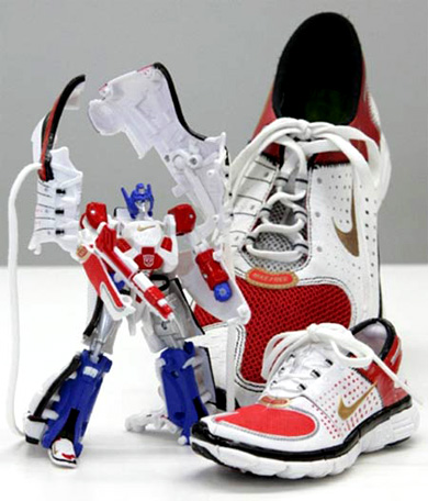 nike zapatillas mechas mechs transformers