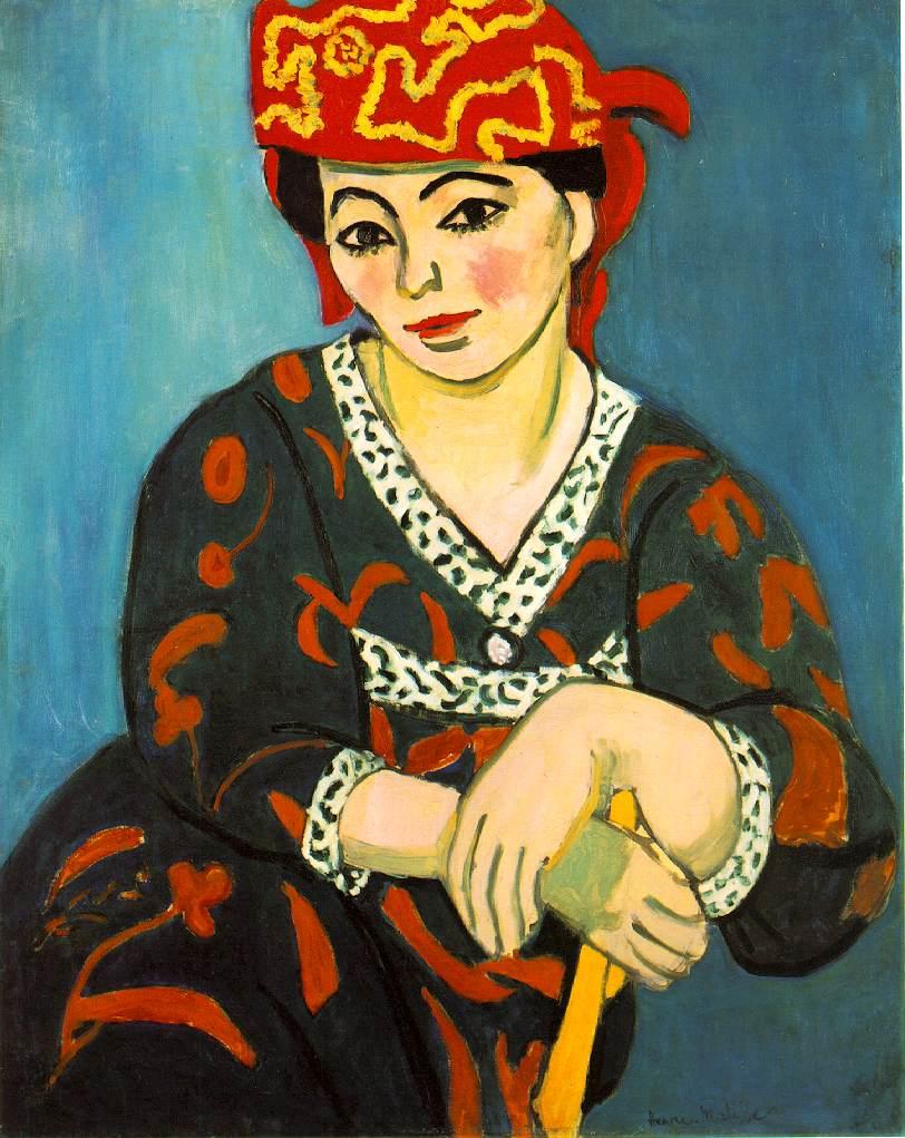 El turbante rojo Henri Matisse madras pintura fauvista