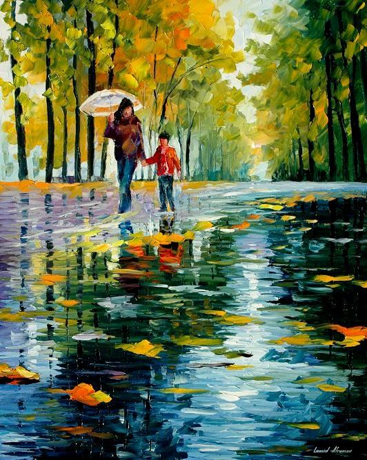 Leonid afremov autumn park
