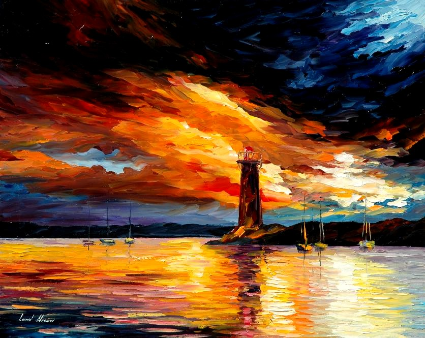 Leonid afremov before storm