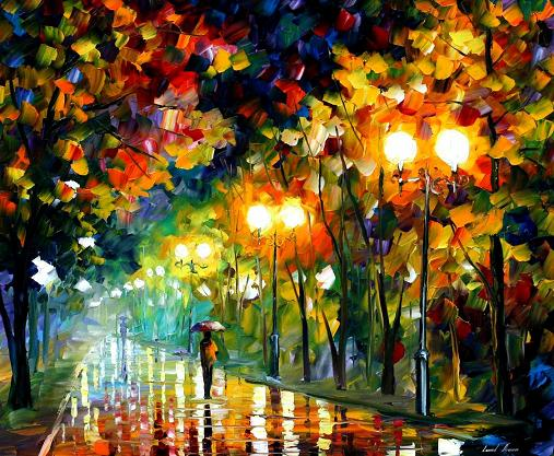 Leonid afremov fall alley