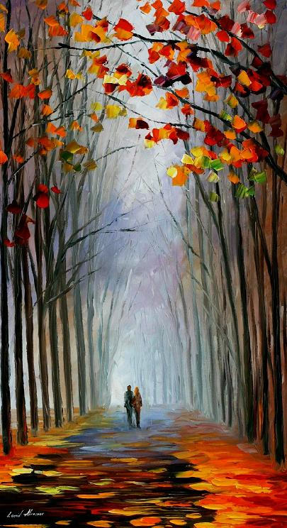 Leonid afremov fall fog
