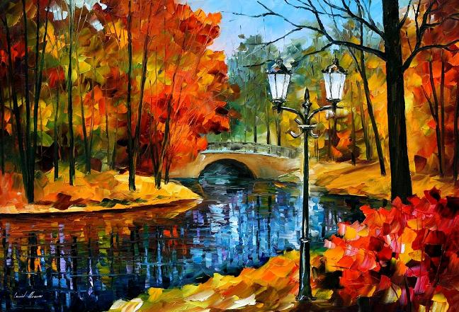 Leonid afremov fall park