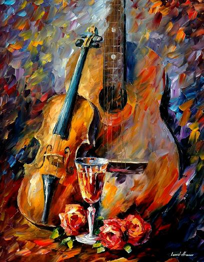Leonid afremov guitar