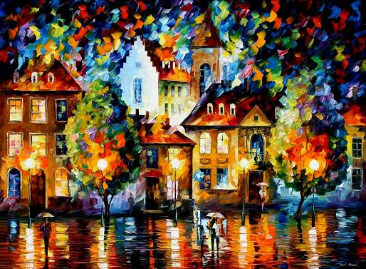 Leonid afremov luxembourg night