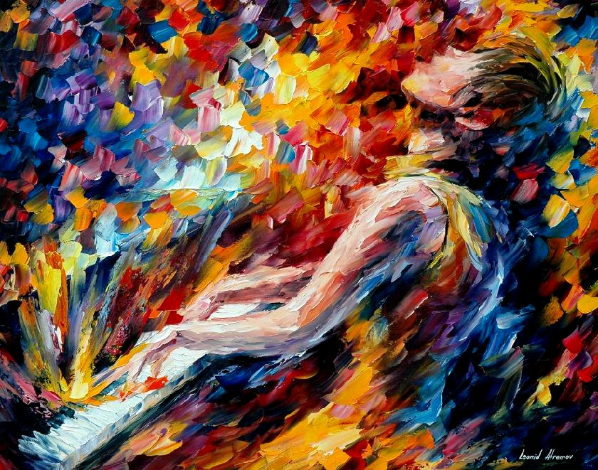 Leonid afremov music fight