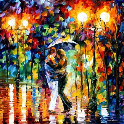 Leonid afremov rain