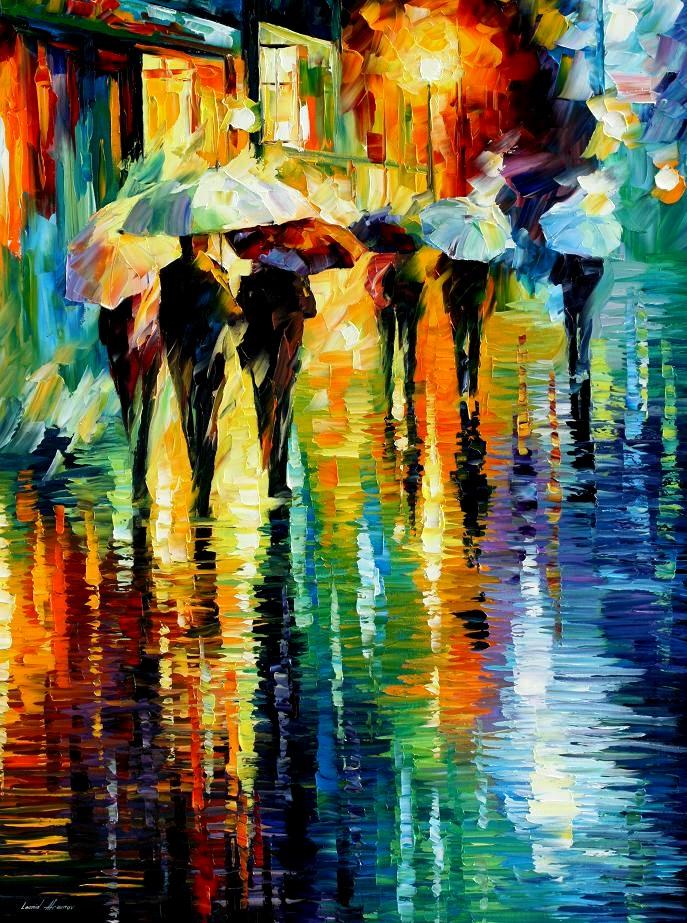 Leonid afremov rainy etude