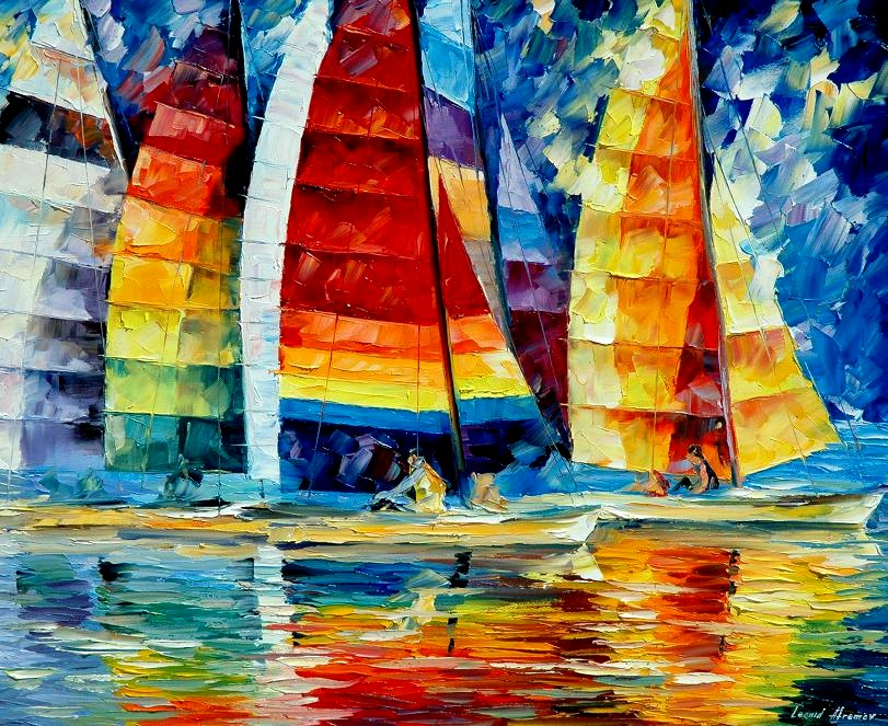 Leonid afremov sea regatta