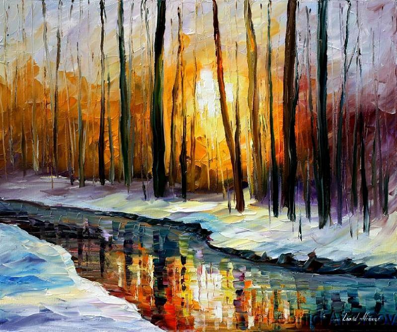 Leonid afremov sunny winter