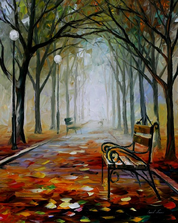 Leonid afremov the way of the fog