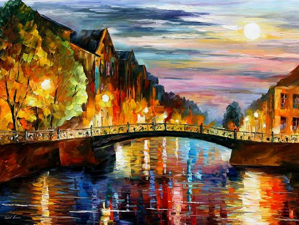 Leonid afremov venice evening